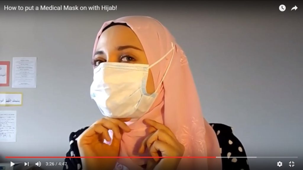 How to Wear a Medical Mask with Hijab!